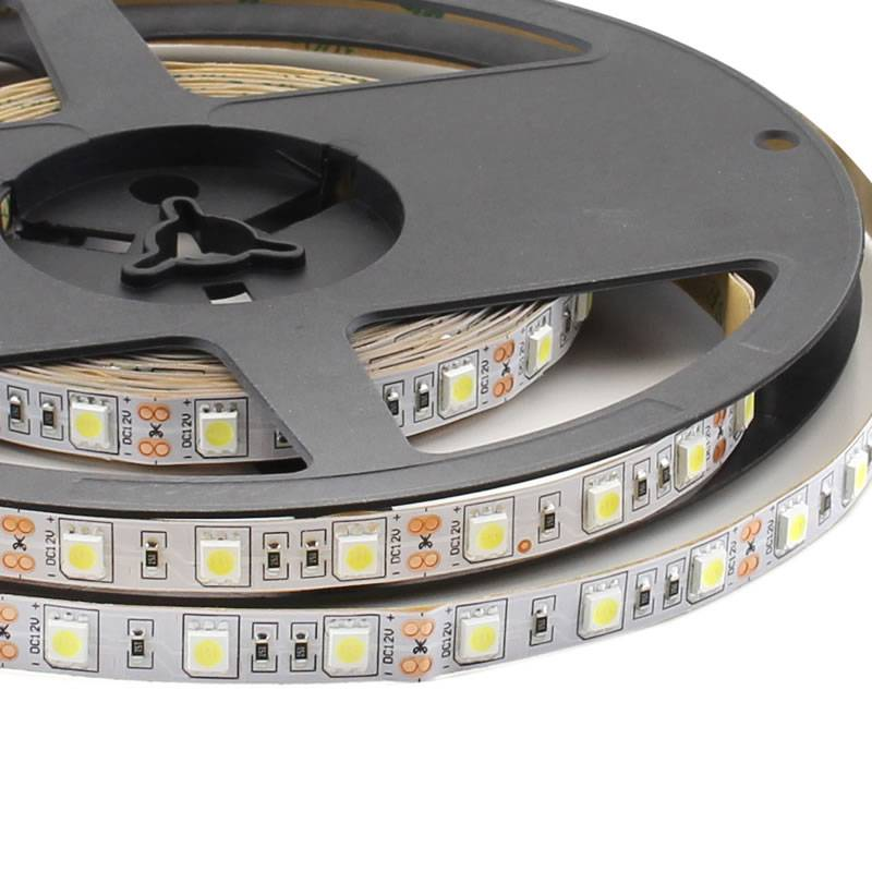 Tira LED Monocolor HQ SMD5050, DC12V, 5m (60 Led/m) - IP20, Blanco cálido